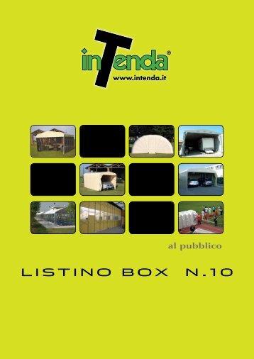 LISTINO BOX N.10