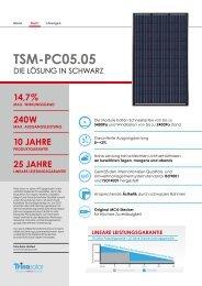 Trinasolar multikristallines Modul TSM-PC05.05 - Ontour Solar