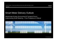 Smart Meter Delivery Outlook - Westminster Forum Projects