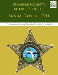 Annual Report, Year 2011 - Monroe County Sheriff's Office