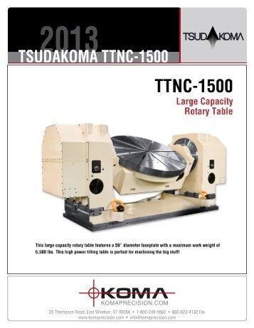 TSUDAKOMA TTNC-1500 - Koma Precision, Inc.