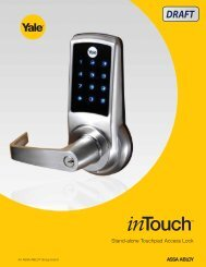 Stand-alone touchpad access lock