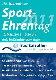 Sport- Ehrentag - Bad Salzuflen
