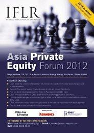 Asia Private Equity Forum 2012 - IFLR.com