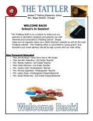The Tattler, September, 2013 - Southington Public Schools