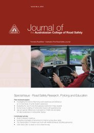 November 2013 Vol 24 No 4 - Australasian College of Road Safety