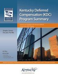Kentucky Deferred Compensation (KDC) Program Summary