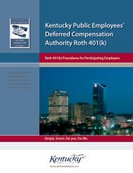 Kentucky Public Employees - The Deferred Compensation Service ...