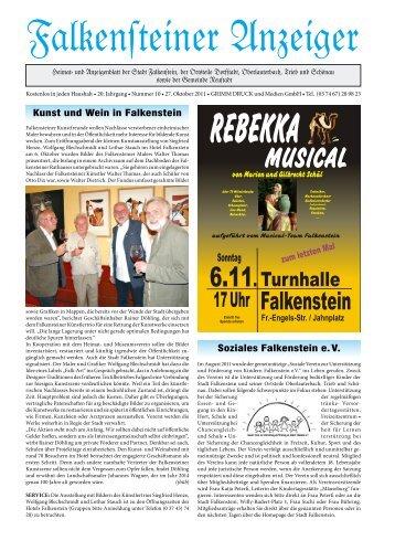 REBEKKA MUSICAL - Stadt Falkenstein im Vogtland