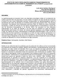 EFECTO DE CINCO FERTILIZANTES QUIMICOS ...