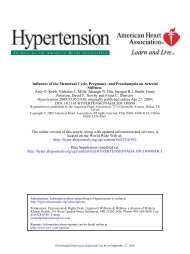 Influence of the Menstrual Cycle, Pregnancy, and Preeclampsia on ...