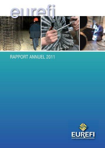 Rapport annuel 2011 - eurefi