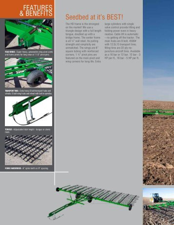 Seedbed at it's BEST! FEATURES & BENEFITS - Great Plains ...