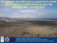 non-marine diatoms (bacillariophyta) from ulu peninsula (james ross ...