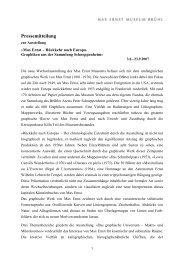 Pressemitteilung - Max Ernst Museum