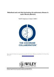 Nebulized and oral thiol derivatives for pulmonary disease in cystic ...