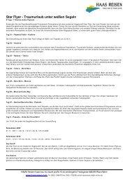 Star Flyer - Traumurlaub unter weißen Segeln - haas reisen