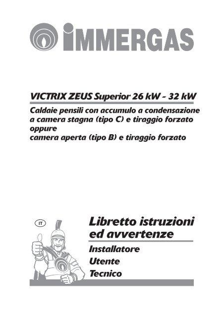 Caldaia Immergas Victrix Zeus Superior 26 Certened