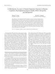 A Mechanistic Account of Striatal Dopamine ... - Michael Frank