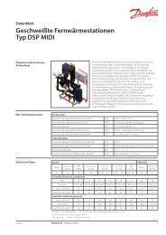 Geschweißte Fernwärmestationen Typ DSP MIDI - Danfoss