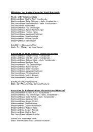 Mitglieder der Ausschüsse der Stadt Butzbach