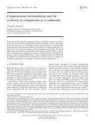 Computational intermediation and the evolution of ... - Antony Davies