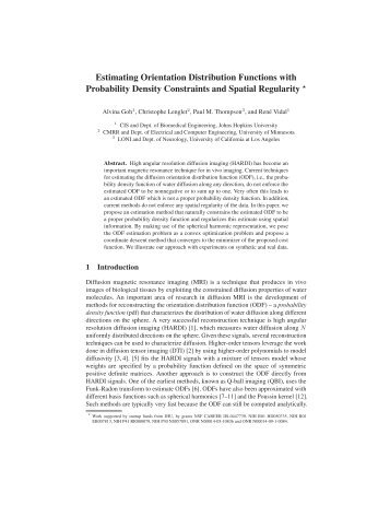 Estimating Orientation Distribution Functions with Probability Density ...
