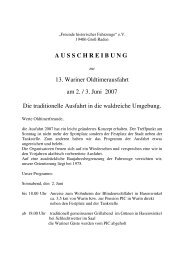 A U S S C H R E I B U N G 13. Wariner Oldtimerausfahrt am 2. / 3 ...