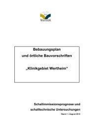 Bebauungsplan und örtliche Bauvorschriften ... - Stadt Wertheim
