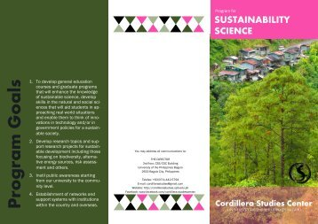 Sustainability Science - UP Baguio