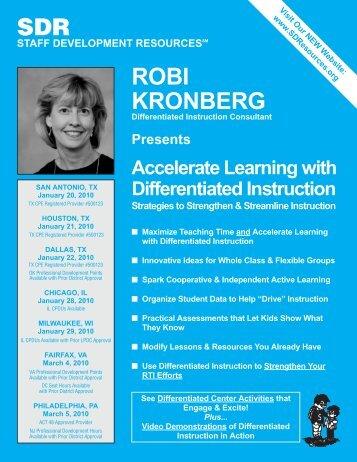 SDR ROBI KRONBERG - Staff Development Resources