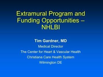Extramural Program and Funding Opportunities - NHLBI