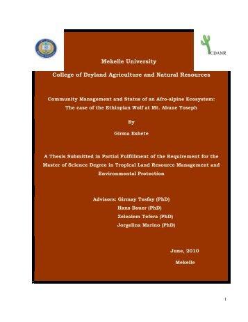 Girma-Eshete-Jenbere-thesis - Ethiopian Wolf Conservation ...