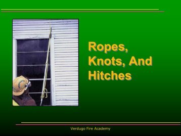 Ropes, Knots, And Hitches