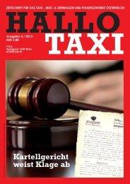 Kartellgericht weist Klage ab - bei Taxi 60160