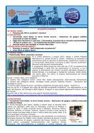 NEWSLETTER n. 23 del 6 giugno 2012 - Caritas Diocesana di ...