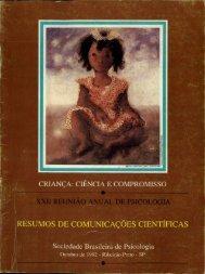 1992 - Sociedade Brasileira de Psicologia
