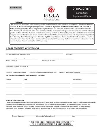 Tennessee consortium agreement form biola university platinumwayz