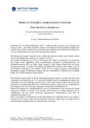 omega-3 vetzuren: aanbevelingen vs inname - Danone Institute