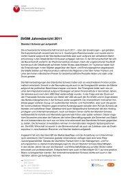 SVSM Jahresbericht 2011 - SVSM - Schweizerische Vereinigung für ...