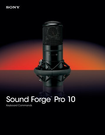 Sony Sound Forge Pro 10 keyboard commands - Canford Audio
