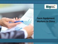 Farm Equipment Markets in China, Size,Analysis,Forecast