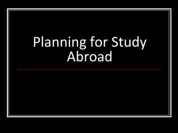 International Academic Programs - POSSE Program