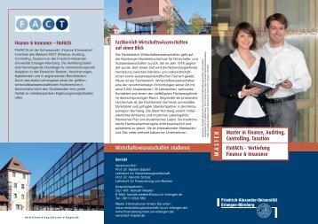 "Studienschwerpunkt ""Finance & Insurance"" - Lehrstuhl für ..."