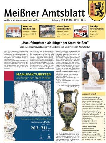 Amtsblatt Nr. 03 vom 19. März 2010 (pdf - Stadt Meißen