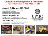 Concussion Management - Prof Joseph Maroon - HyperMED