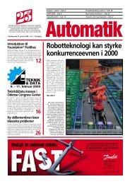 Robotteknologi kan styrke konkurrenceevnen i 2000 - Teknik og Viden