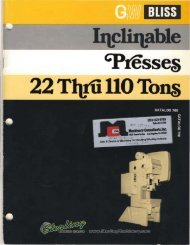 Bliss C series Presses Brochure - Sterling Machinery