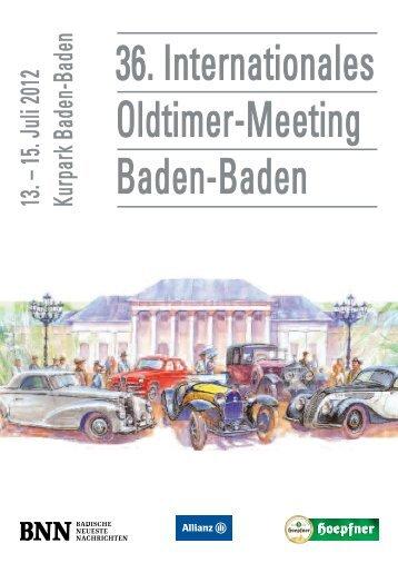 Das Veranstaltungsmagazin zum diesjährigen Oldtimer-Meeting ist ...