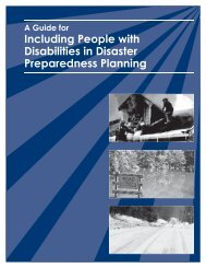 A Guide for Including People with Disabilities in Disaster - CT.gov